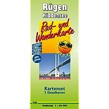 Kartenset Rügen - Hiddensee: bestehend aus den 5 Einzelkarten: Rad- und Wanderkarte Wittow - Bug - Schaabe - Hiddensee Rad- und Wanderkarte Ummanz - ... reißfest, abwischbar, GPS-genau. 1:50000