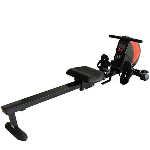 TOP-ANGEBOT! Rudergerät AsVIVA RA8 schwarz | Magnetbremse mit 8 Widerstandsstufen, inkl. Pulsempfänger für optionale Brustgurte ( Pulsgurt ) natürlich klappbar | Heimtrainer Rower Top-Angebote