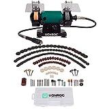 VONROC - Amoladora doble/amoladora doble/herramienta multifunción 150 W - 75 mm con onda flexible - incluye 192 accesorios