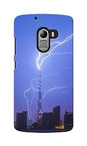 KnapCase Lightning Strike Designer 3D Printed Case Cover For Lenovo A7010