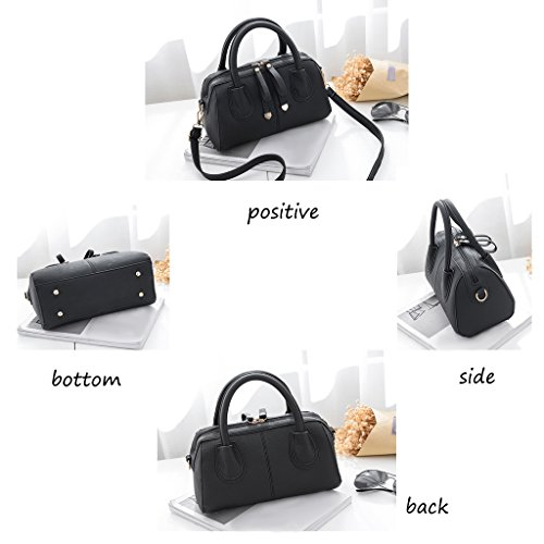 CLOTHES- Sacchetto di spalla selvaggio della personalità delle borse di modo del sacchetto femminile del sacchetto della borsa del messaggero delle signore casuali ( Colore : Army green ) Nero