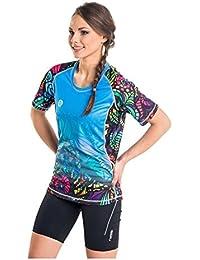 Nessi Damen T-Shirt DK Laufshirt Fitnesshirt Atmungsaktiv Mosaikglas