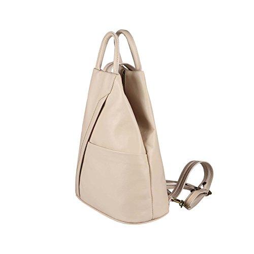 b2c318ef1424ee OBC Made in Italy Damen echt Leder Rucksack Lederrucksack Tasche  Schultertasche Ledertasche Daypack Backpack Handtasche Nappaleder ...
