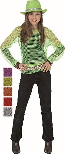 KARNEVALS-GIGANT Netzhemd für Kinder | Rot | 1-teiliges 80er Kostüm | Party Unisex Faschingskostüm | Disco Outfit für ()