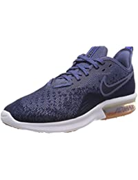 Nike Men's Air Max Sequent 4 Midnight Navy/Obsidian/Diffused Blue Running Shoes (AO4485-400)
