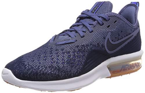 official photos bd510 acd3f Nike Air MAX Sequent 4, Zapatillas de Gimnasia para Hombre, Azul (Midnight  Navy