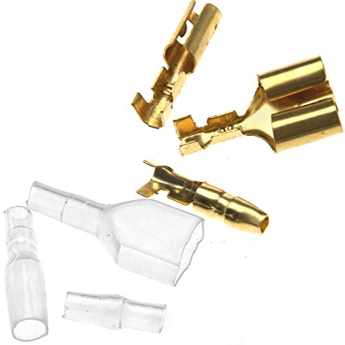 Preisvergleich Produktbild 70PCS Kabelschuhe 3.9mm Quetschverbinder Steckverbinder Rundsteckhülse Set