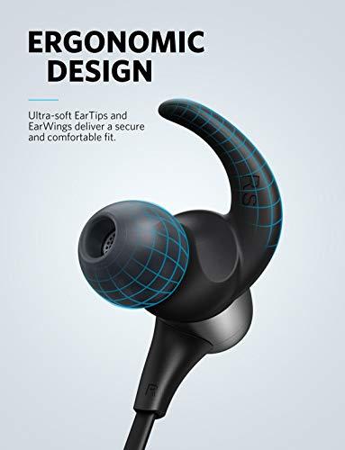 Soundcore Spirit Pro Bluetooth Kopfhörer, In Ear magnetisches Headset mit Dualem EQ/ 10 Stunden Akkulaufzeit/IPX 7 SweatGuard Technologie, für Sport, Workouts und viel mehr (Grau) - 6