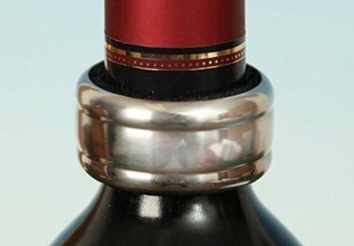 4 Stück Weintropfen-Stopper Tropfenfänger aus Edelstahl Tropfring