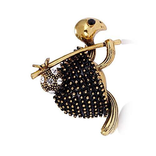 HUNANANA Antik Gold Geld Schildkröte Broschen Für Frauen Anstecknadeln Niedliche Kleine Schildkröte Reichtum Mode Tier Schmuck (Geld Brosche)
