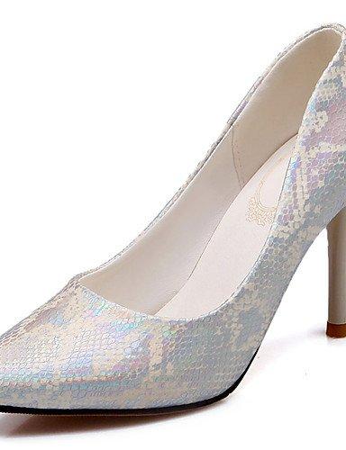 WSS 2016 Chaussures Femme-Habillé / Soirée & Evénement-Vert / Rose / Argent-Talon Aiguille-Talons / Bout Pointu-Talons-Similicuir pink-us10.5 / eu42 / uk8.5 / cn43