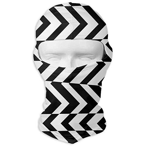 Nifdhkw Black and White Stripes Winter Ski Mask Balaclava Hood - Wind-Resistant Face Mask New11 Reversible Stripe Beanie