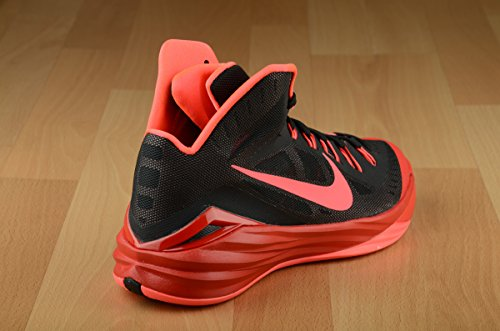 Nike Hyperdunk 2014, Chaussures de Sport-Basketball Homme Multicolore - Varios colores (Negro / Rojo (Black / Hyper Punch-Unvrsty Red))