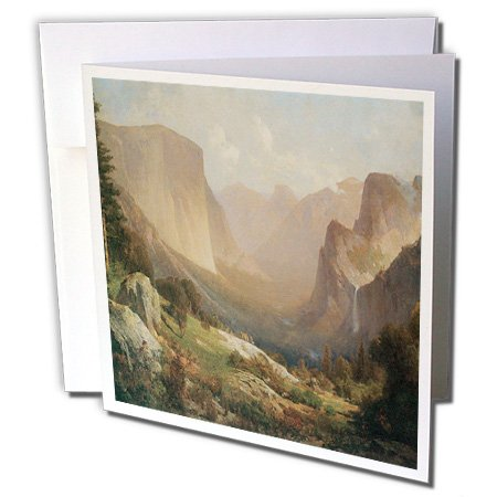 3drose View of Yosemite Valley von Thomas Hill American West–Grußkarten, 6von Foto, Set 6(GC 126704_ 1)