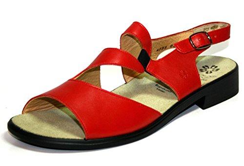 Ganter Clio 9-203011 Damen Schuhe Sandalen, Weite F Rot (Rosso)