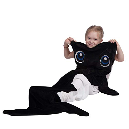 B-Creative Waldecke für Kinder, Teens, Orca Design Snuggie Tail Blanket, Ultra Soft Flannel Fleece All Seasons Sleeping Blanket, Best Gifts for Boys,20