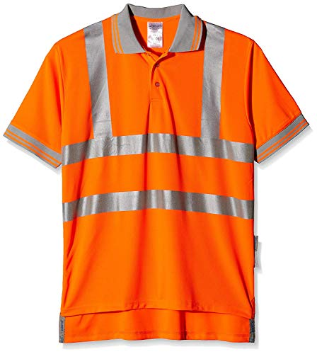 Price comparison product image Pulsarail Short Sleeved Polo,  XL,  Hi-Viz Orange