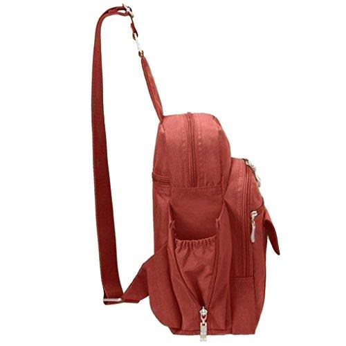 Baggallini  MES160, Sac pour femme à porter à l'épaule taille unique, pacifique (bleu) - MES160 - Vert pomme