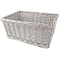 RMS Cestino vimini maxi 43x33x19h rettangolare bianco (Cestini Ciclo) / Wicker maxi basket 43x33x19h rectangular bianco (Bike Basket )