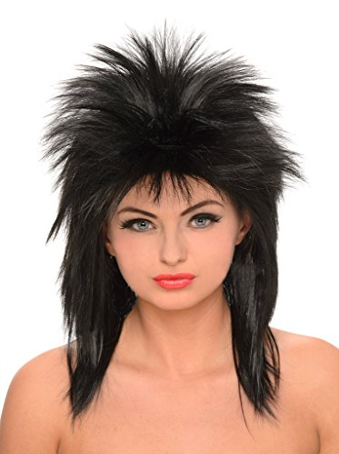 Black Rock Star Wig for Ladies
