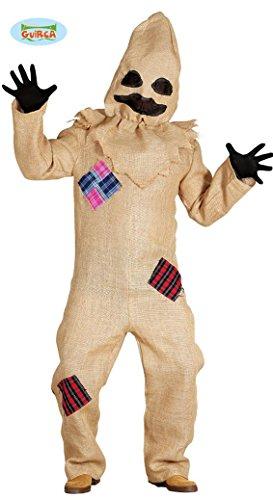 Halloween Sack Kostüm für Herren Jute Monster Sackmensch Horror Vogelscheuche Gr. M/L, (Kostüm Ideen Vogelscheuche)