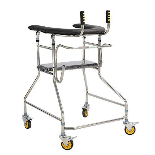 DONG Lightweight Folding Adjustable Driving Medical Walker, älterer Walker-Schlaganfall, Hemiplegie, Erwachsener Walker, Trainingsgerät für die Rehabilitation der unteren Extremitäten, gesunder Sta.