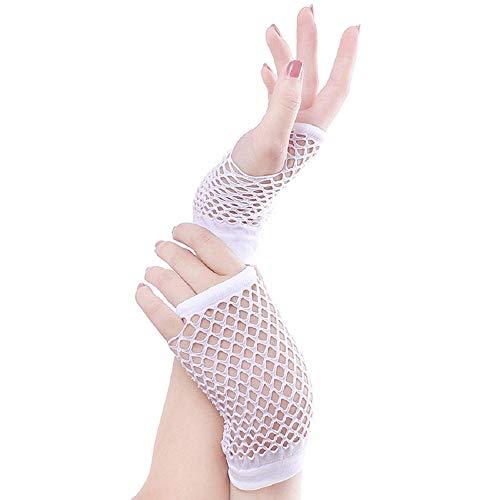 Skang handschuhe Fäustlinge Punk Goth Lady Disco Dance Kostüm Spitze Fingerlose Mesh Netzhandschuhe