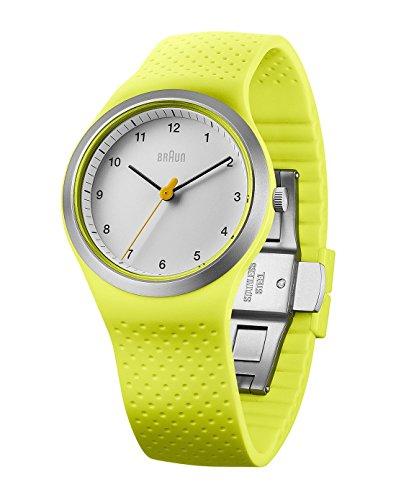 Braun Reloj analógico para Mujer de Cuarzo con Correa en Silicona BN0111WHGRL