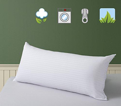 SAVEL Funda de almohada Cutí 100% algodón listado, suave y absorbente, 40x90cm