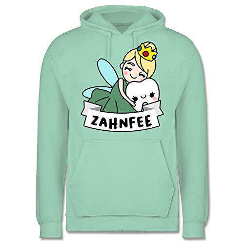 Fee Kostüm Zahn Mann - Karneval & Fasching - Zahnfee Kostüm - M - Mint - JH001 - Herren Hoodie