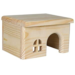 Wooden House for Mice/Hamsters, 15 × 12 × 15 cm by Trixie
