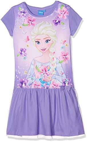 Sommer-kleid Anna (Disney Die Eiskönigin Elsa & Anna Mädchen Kleid - violett - 98)