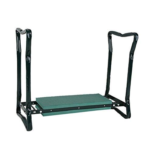 Dbtxwd Garten Kneeler Seat Faltbare Tragbare Garten Bank Stuhl Mit Werkzeug Tasche Und Eva Kniende Pad & Griffe, Grün