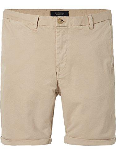 Scotch & Soda Herren Shorts Classic Chino Stretch Cotton Twill Quality, Braun (Sand 0137), W30