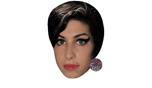 Red Lipstick Celebrity Mask Card Face Amy Winehouse