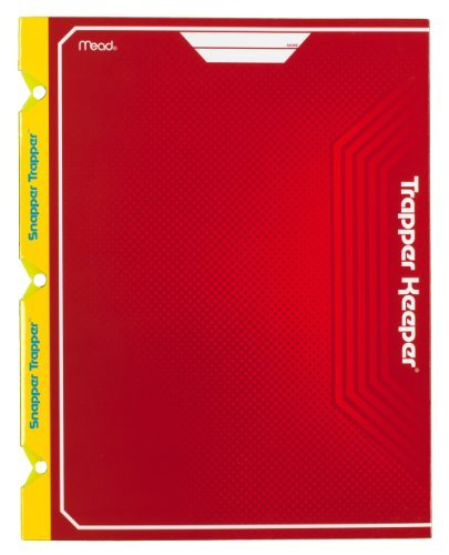 mead-trapper-keeper-snapper-trapper-2-pocket-portfolio-12-x-938-x-12-inches-red-72660-by-mead