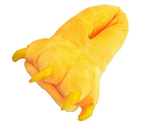 Minetom Unisex Herbst Winter Tierhausschuhe Plüsch Hausschuhe Pantoffeln Kostüme Warme Puschen ( Gelb M ( EU 35-38 ) )