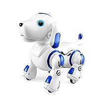 RuleaxAsi جهاز التحكم عن بعد 2.4 جيجا هرتز روبوت الكلب جرو ذكي ذكي تفاعلي يرقص ينغني ألعاب قابلة للبرمجة هدية عيد ميلاد للأطفال XYT3655BLOSSA