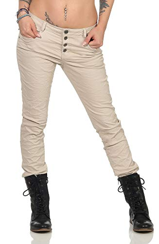 Urban Surface Pantaloni Chino da Donna Eleganti Pantaloni in Tessuto con Cintura Intrecciata in Comodo Cotone
