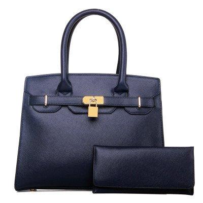 Mefly Europäischen Luxus Handtaschen Platin All-Match Temperament Navy Blue