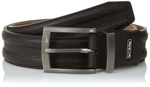 Nike Mens Trapunto G-Flex Belt Dark Brown