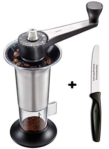 Gefu Geschenkset Kaffeemühle LORENZO + Edelstahlstyling Universalmesser