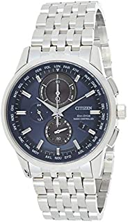 CITIZEN Mens Solar Powered Watch, Analog Display and Stainless Steel Strap AT8110-61L