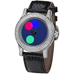 Rainbow e-motion of color Women's Automatic Watch EX44-LB-do with Leather Strap