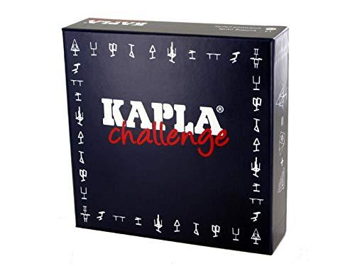 Kapla 8027bois plaquettes Challenge 16pièces avec 12cartes de jeu