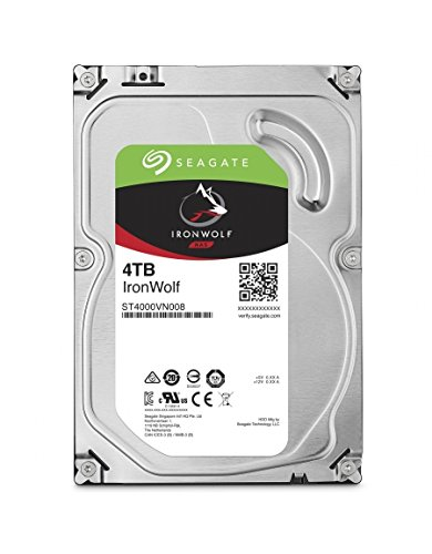 "Price comparison product image Seagate IronWolf 4TB SATA III 3.5"" Hard Drive - 5900RPMrpm,  64MB Cache"