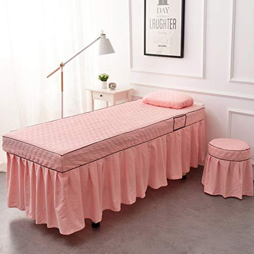 XUESUNSS Premium Tabelle-Rock Mikrofaser Massage Tabellenblatt Satz Volltonfarbe Massage Tabelle-Rock Für Beauty Salon (Physiotherapie) Bett -rosa 80x190cm(31x75inch) (Massage-tabellen-rosa)