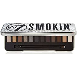 W7 Up in Smoke Paleta de Maquillaje Con 12 Pigmentada Sombras Brillante
