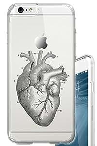 iPhone 6S PLUS Case 5.5 inch Anatomical Heart Medical Nurse CNA Clear Translucent Transparent Unique Design Pattern Cover For iPhone 6S PLUS also fits iPhone 6 PLUS