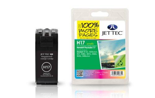 Preisvergleich Produktbild Jet Tec C6625AE HP HP17 6625 color In England hergestellte Wiederaufbereitete Tintenpatrone Couleur